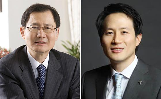 삼촌 박찬구 금호석유화학 회장(왼쪽)과 31일 계약 해지에 따라 퇴임 당한 조카 박철완 상무. [중앙포토]