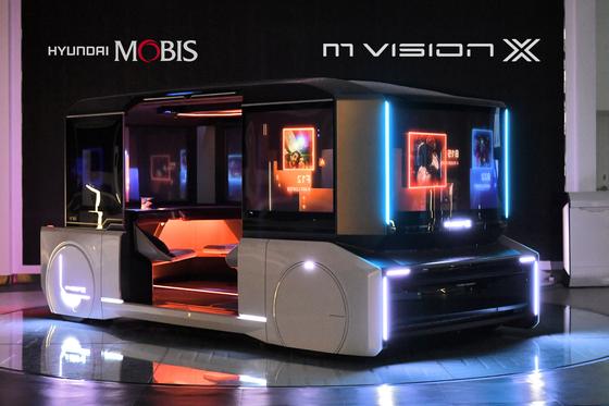 현대모비스 미래 모빌리티 '엠비전 X' 콘셉트카. 사진 현대모비스