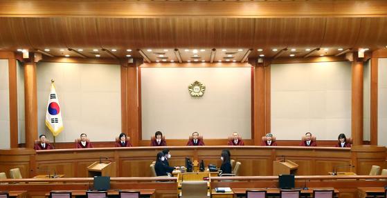 지난해 4월 헌법재판소. 뉴시스