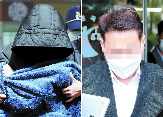 인천 을왕리 음주운전 차량 운전자와 동승자. 연합뉴스