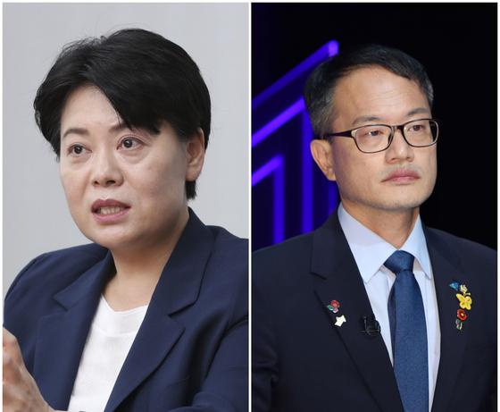국민의힘 윤희숙(왼쪽) 의원과 더불어민주당 박주민(오른쪽) 의원. 중앙포토
