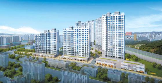 서울 접근성이 좋은데다, 덕소뉴타운 등 미래가치가 풍부해 주목받는 덕소 강변 스타힐스 투시도.