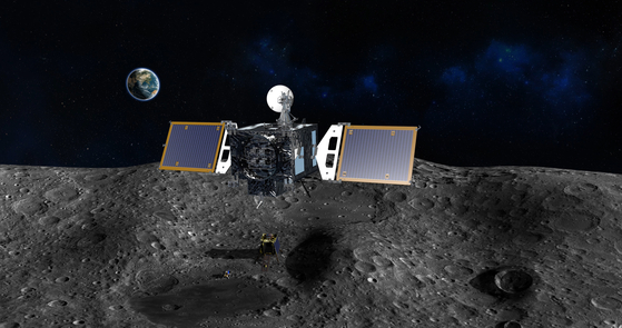 내년 발사될 한국형 달 궤도선이 수행할 과학 임무의 윤곽이 잡혔다. 사진은 달궤도선 가상도. [사진 항우연]