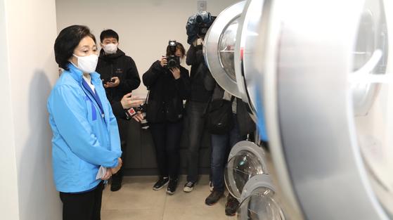 """""""대학가에 청년 주택을 짓겠습니다""""박영선 안암 서 20 차 투표"""