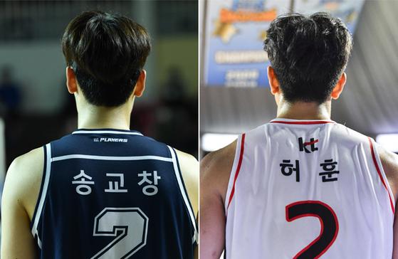 이번시즌 유력한 프로농구 MVP 후보 KCC 송교창·KT 허훈. KBL 제공