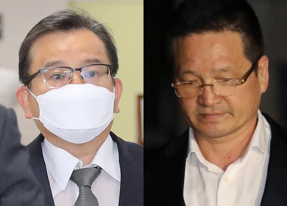 김학의 전 법무부 차관(왼쪽)과 건설업자 윤중천씨. 연합뉴스