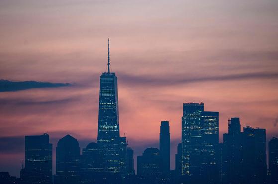 뉴욕 고층 빌딩의 스카이라인. [AFP=연합뉴스]