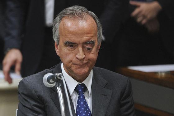세차 작전을 통해 밝혀진 부패 스캔들의 핵심 인물인 페트로브라스의 네스토르 세르베로 전 이사. 사진 Senado Federal