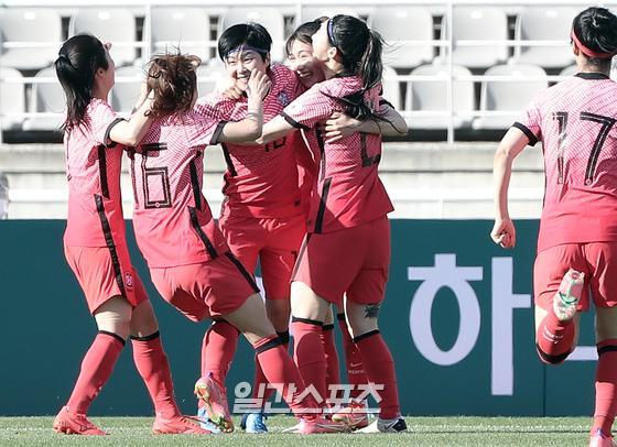 여자축구대표팀이 중국과 도쿄올림픽 최종예선 2차전을 위해 9일 출국한다. 김민규 기자