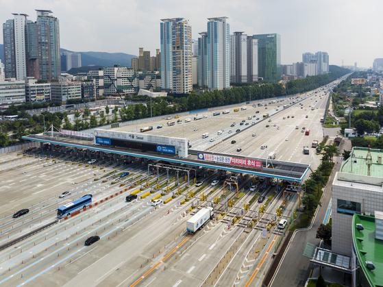 경부고속도로 서울 톨게이트. 한국도로공사