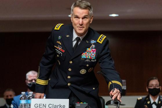 지난 3월 리처드 클라크 미 특수전 사령관이 미 의회에서 발언하고 있다. [사진 로이터=연합뉴스]