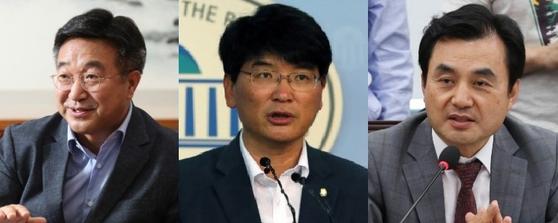 더불어민주당 원내대표 출마가 거론되는 의원들. 왼쪽부터 윤호중·박완주·안규백 의원. 중앙포토