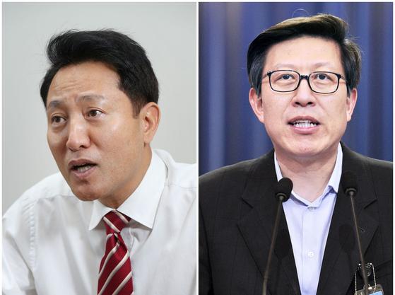 4·7 재·보궐선거에서 당선된 오세훈(왼쪽) 서울시장과 박형준(오른쪽) 부산시장. 중앙포토