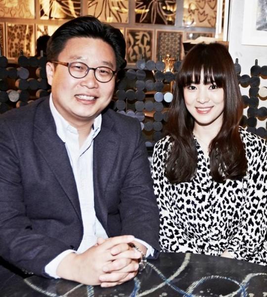 서경덕 성신여대 교수와 배우 송혜교. 사진 서경덕 교수 페이스북