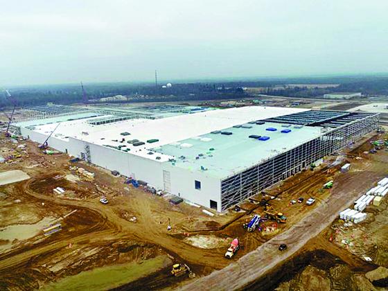LG에너지솔루션과 GM이 미국 오하이오주에 설립 중인 전기차 배터리 합작법인 공장. [사진 LG에너지솔루션]