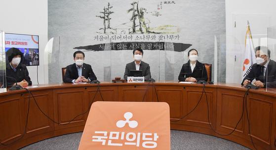 국민의당 최고위원회의에 안철수 대표가 발언하고 있다. 오종택 기자