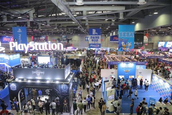 2019년 열린 '플레이엑스포(PlayX4) B2C(business to consumer)전시회' 모습. 경기도는 올해 7월 열리는 전시회에 북한의 참가를 제안할 계획이다. 경기도