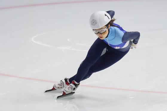 평창 올림픽 금메달리스트 최민정이 쇼트트랙 선수권 대회 여자 일반부 500m에서 우승했다. [뉴스1]