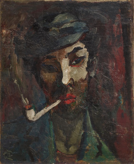 구본웅이 이상을 그린 〈친구의 초상〉 1935년, 캔버스에 유채, 62x50㎝, 국립현대미술관 소장.
