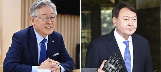 이재명 경기지사(왼쪽)과 윤석열 전 검찰총장. 중앙포토