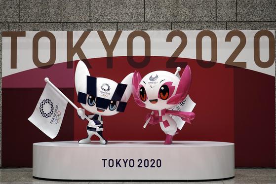 도쿄올림픽 개막 100일을 앞둔 14일 공개된 마스코트. 대회 개최 여부는 여전히 불투명하다. 연합뉴스