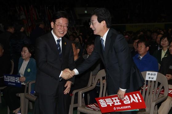 이재명 경기도지사, 유승민 전 미래통합당 의원.