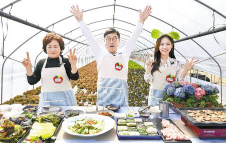 광주시가 세계인을 대상으로 한국의 쌈 먹거리 문화를 알리기 위한 '쌈 문화 캠페인'을 펼치고 있다. [사진 광주시]