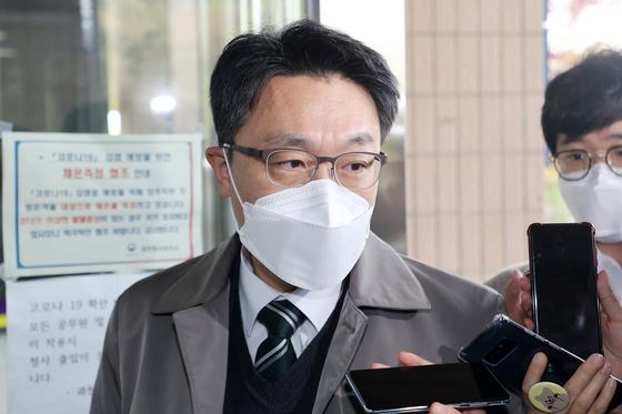 15일 오전 김진욱 고위공직자범죄수사처 처장이 출근하고 있다. 뉴스1