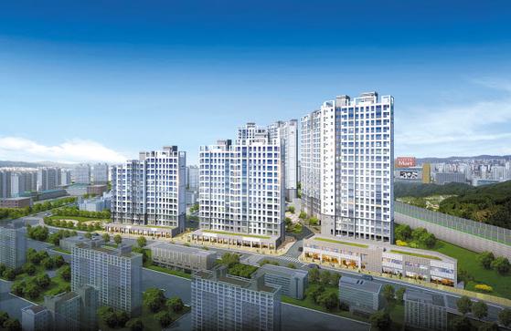 서울 강남 접근성이 좋은데다, 덕소뉴타운 등 미래가치가 뛰어나 주목받는 덕소 강변 스타힐스 투시도.