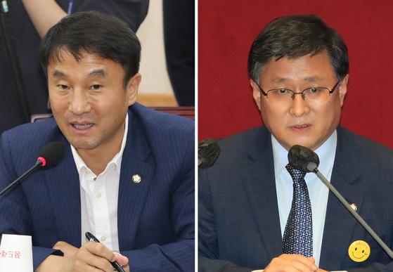 18일 더불어민주당 신임 원내수석부대표 내정이 발표된 한병도 의원(왼쪽)과 김성환 의원. 연합뉴스