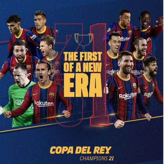 바르셀로나가 3년 만에 스페인 국왕컵 우승을 차지했다. [사진 바르셀로나 인스타그램]
