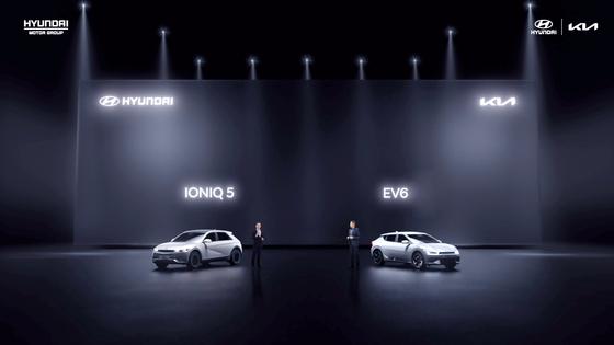 현대차 전기차 아이오닉5(왼쪽)와 기아 전기차 EV6. [연합뉴스]