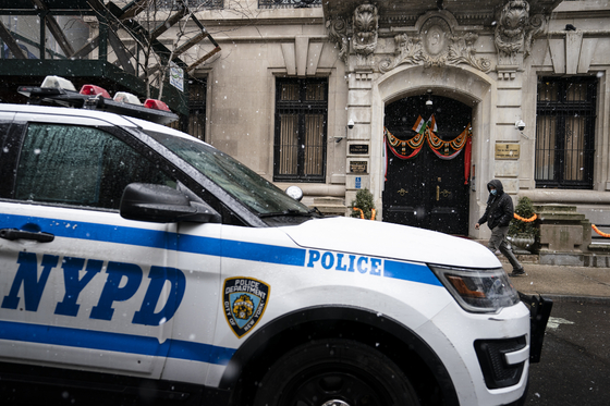 뉴욕 경찰 차량의 모습. 사진은 기사 내용과 관련이 없습니다. AP=연합뉴스
