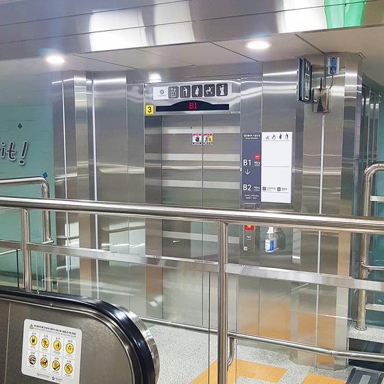 지난 3월 설치한 서울 지하철 6호선 상수역 엘리베이터. [사진 서울교통공사]
