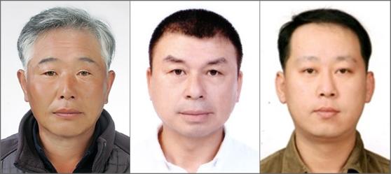 LG복지재단은 하반신 장애에도 불구하고 사고 차량에 갇힌 일가족을 구한 김기문씨(왼쪽부터)와 폭발 직전 차량서 운전자를 구한 환경미화원 박영만·허원석씨에게 'LG의인상'을 수여했다고 20일 밝혔다. [사진 LG그룹]