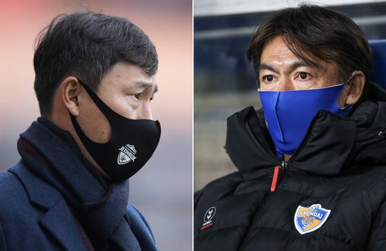 올 시즌 유력한 우승후보 전북과 울산이 오는 21일 시즌 첫 맞대결을 펼친다. 한국프로축구연맹