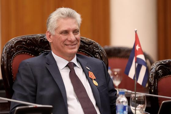 미겔 디아스카넬 쿠바 대통령이 최고 지도자인 총서기로 선출됐다. EPA=연합뉴스