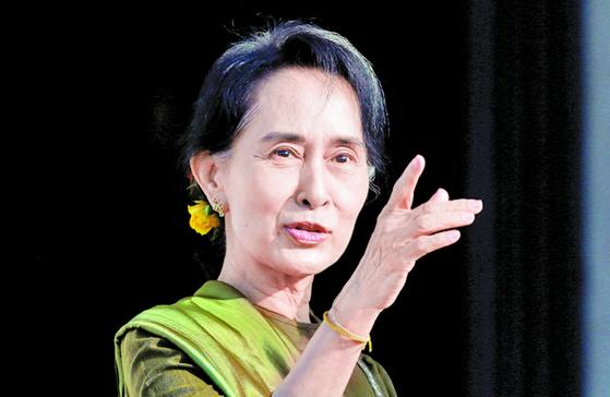아웅산 수지 미얀마 국가고문. [로이터]