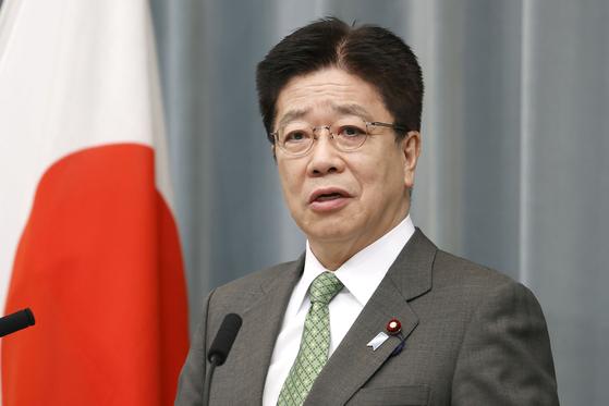 가토 가쓰노부 일본 관방장관. [AP=연합뉴스]