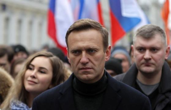 러시아 야권 지도자 알렉세이 나발니. 나발니는 올해 1월 러시아로 돌아오자마자 체포된 후 지난 2014년 사기 혐의로 선고받은 징역 3년 6개월의 집행유예가 실형으로 전환됐다. [EPA=연합뉴스]