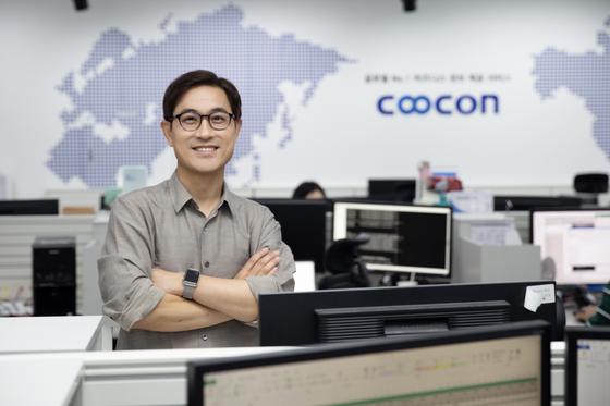 """김종현 쿠콘 대표는 22일 중앙일보와 인터뷰에서 """"전 세계 비즈니스 데이터를 하나로 잇는 '넘버원 비즈니스 플랫폼'으로 자리매김하는 게 중장기 비전""""이라고 말했다. [사진 쿠콘]"""
