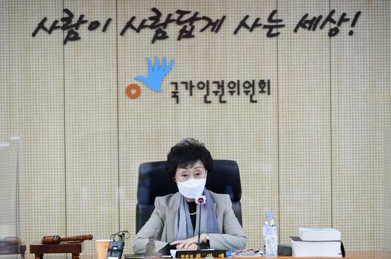 최영애 국가인권위원장. 연합뉴스