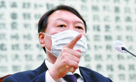 윤석열 검찰총장이 지난해 10월 22일 서울 여의도 국회에서 열린 법제사법위원회의 대검찰청에 대한 국정감사에 출석해 의원 질의에 답변하고 있다. 오종택 기자