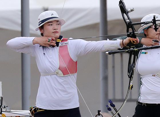 23일 끝난 도쿄올림픽 선발전 여자부 1위를 차지한 강채영. [뉴스1]
