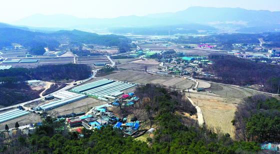 반도체클러스터 산업단지가 들어설 경기도 용인시 처인구 원삼면 일대 모습. 연합뉴스