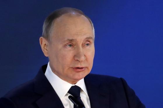 푸틴 러시아 대통령. 로이터=연합뉴스