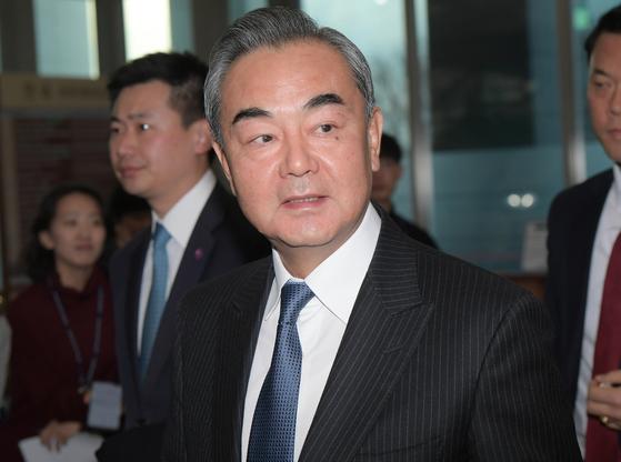 왕이(王毅) 중국 외교 담당 국무위원 겸 외교부장. 김상선 기자