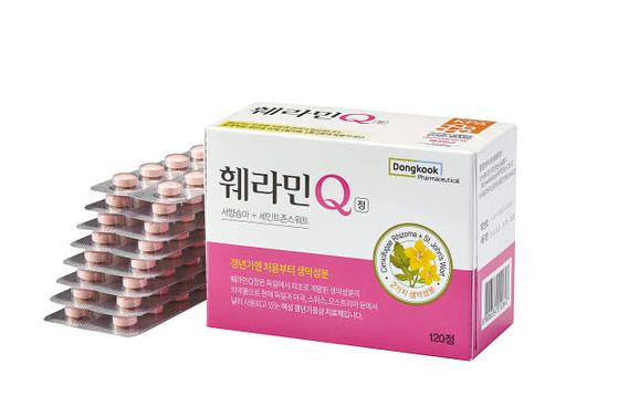 동국제약 '훼라민큐(Q)'는 생약 성분 갱년기 치료제로, 약국에서 살 수 있는 일반의약품이다. 서울대병원 등 7개 대학병원 임상연구를 통해 효과·안전성이 입증됐다. [사진 동국제약]