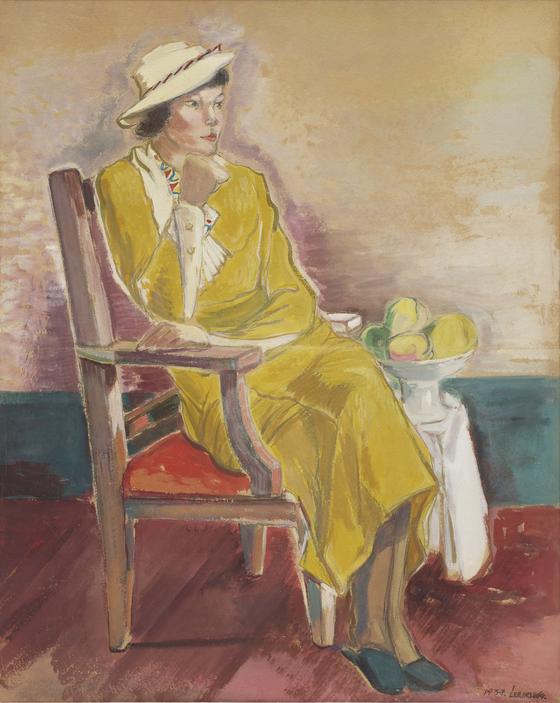 이인성 작가의 '노란옷을 입은 여인상'. [사진 대구미술관]