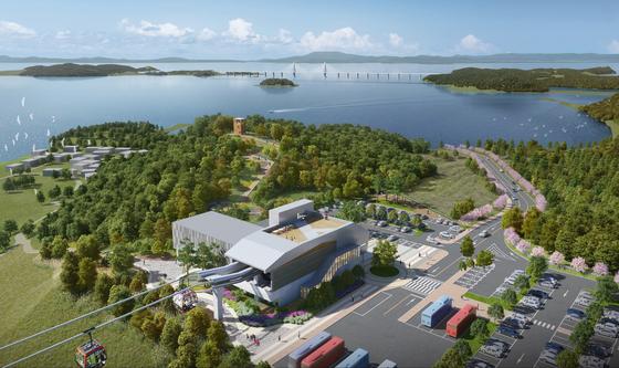 국내 최초로 섬과 섬을 연결하는 해상케이블카가 충남 보령 원산도~삽시도에 조성된다. 길이는 3.9㎞로 2024년 준공 예정이다. [사진 보령시]